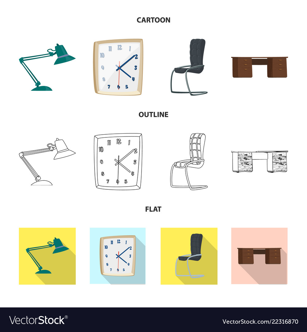 Isolated object of furniture and work icon