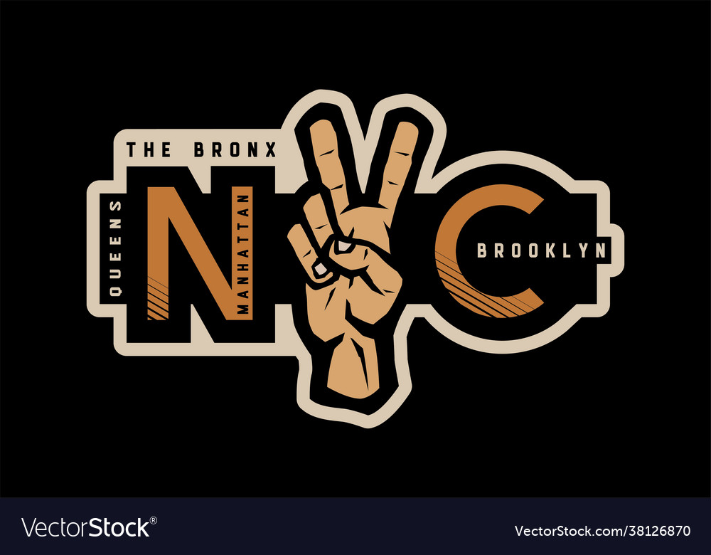 New york t-shirt printing design nyc emblem