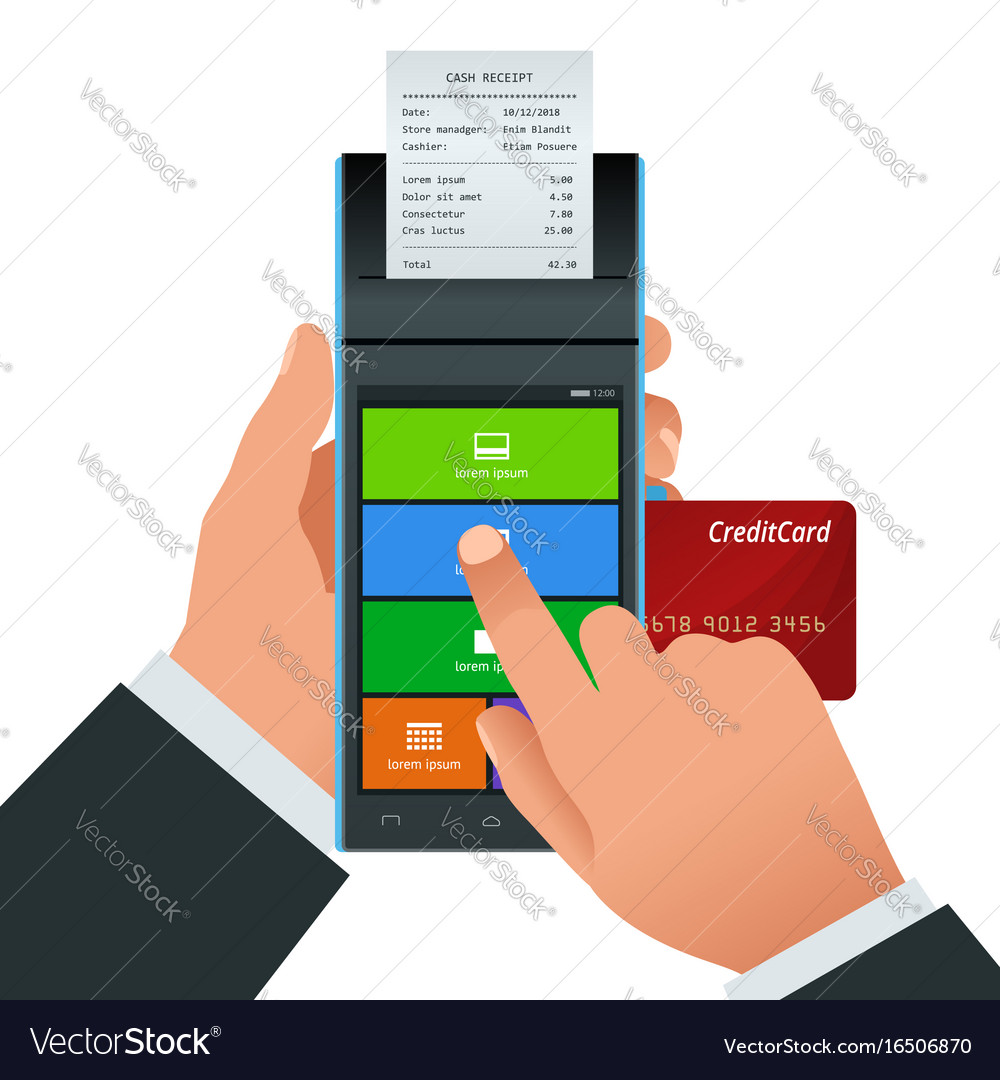 Payment machine and credit card pos