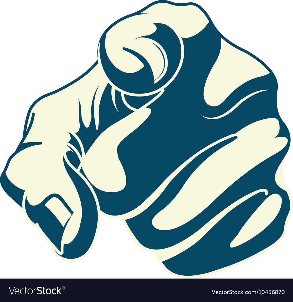 Pointing forefinger vector image