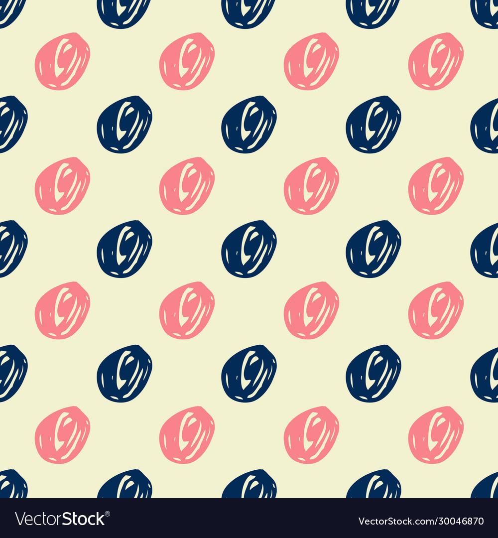 Seamless trendy messy geometric polka dot pattern