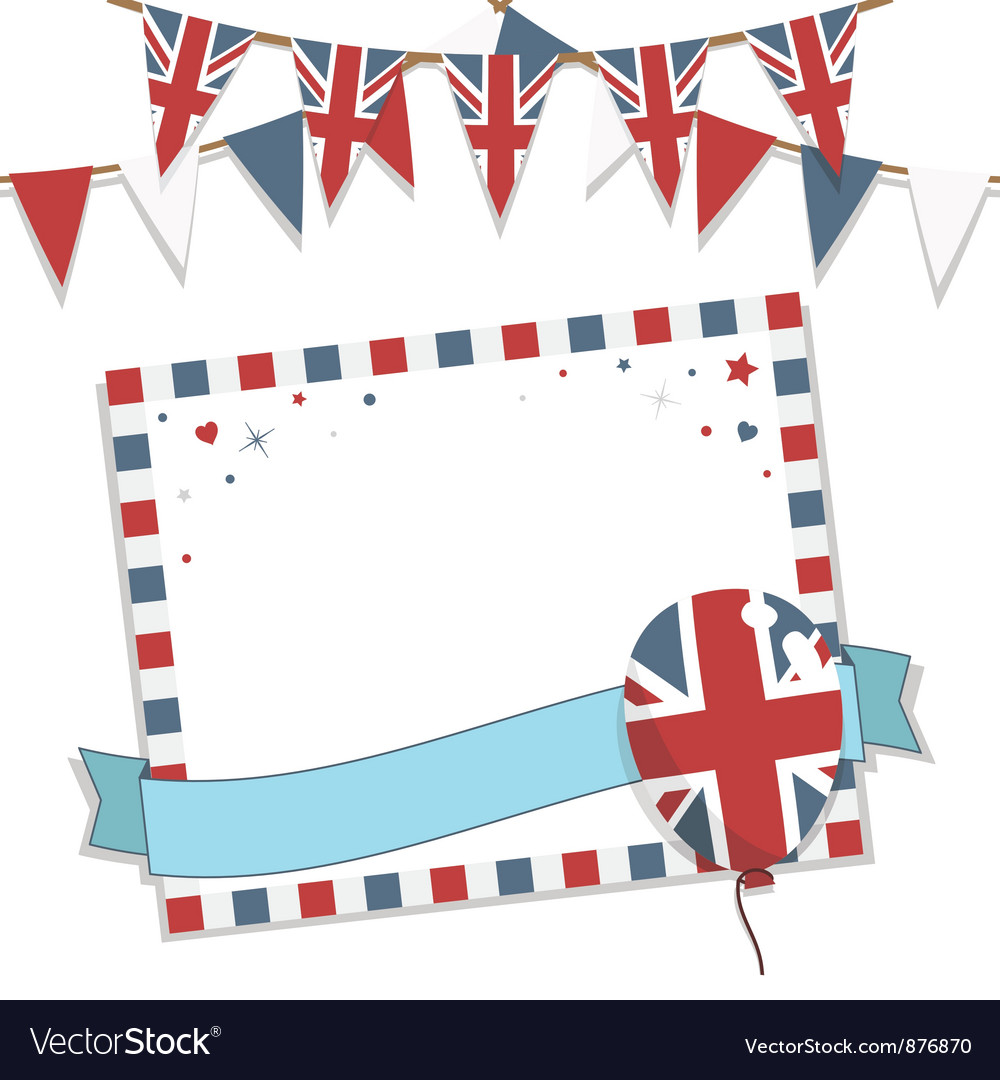 Uk party card vector image