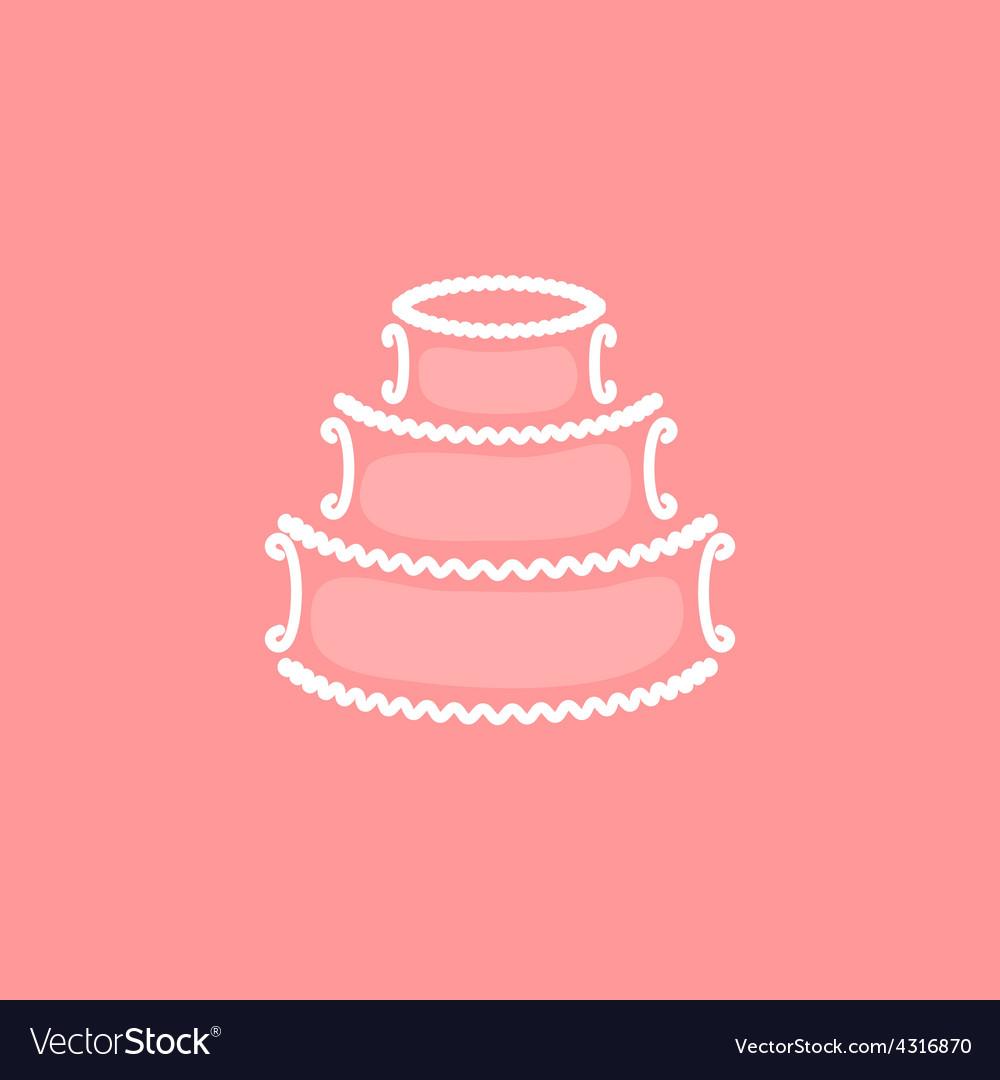 Wedding cake logo Royalty Free Vector Image - VectorStock