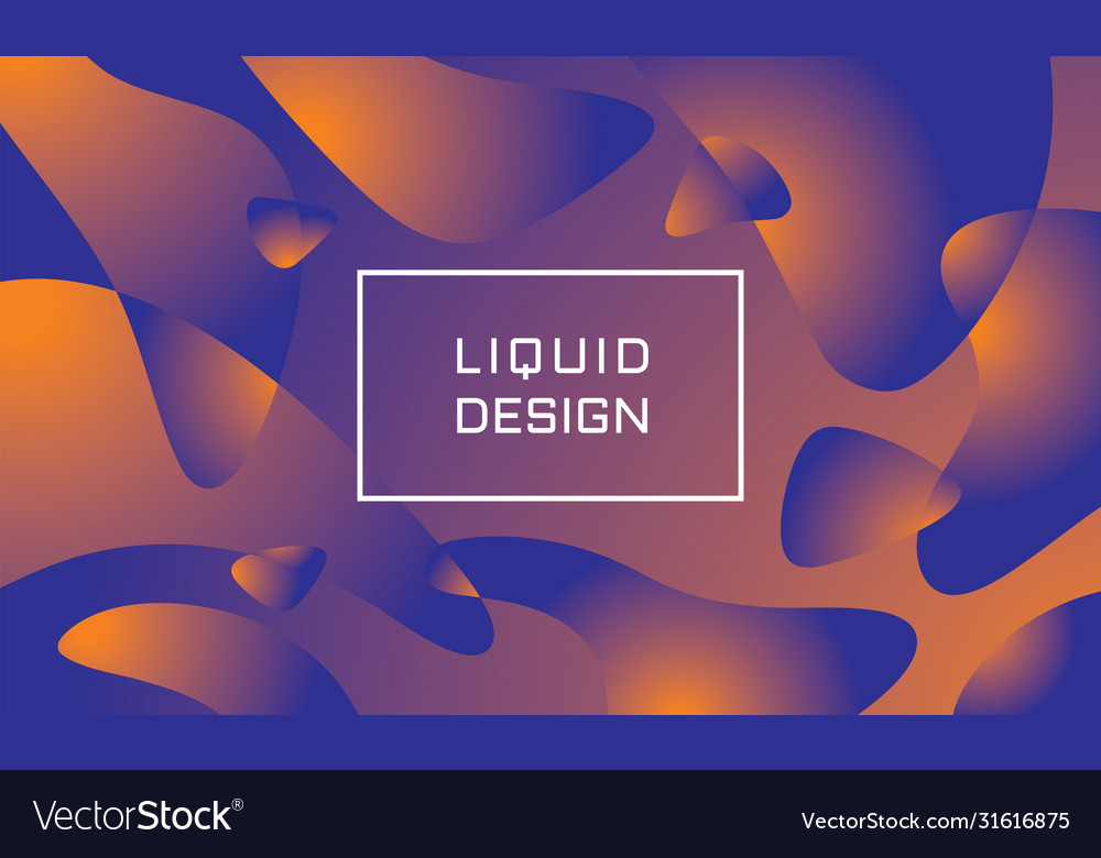 Abstract liquid color background