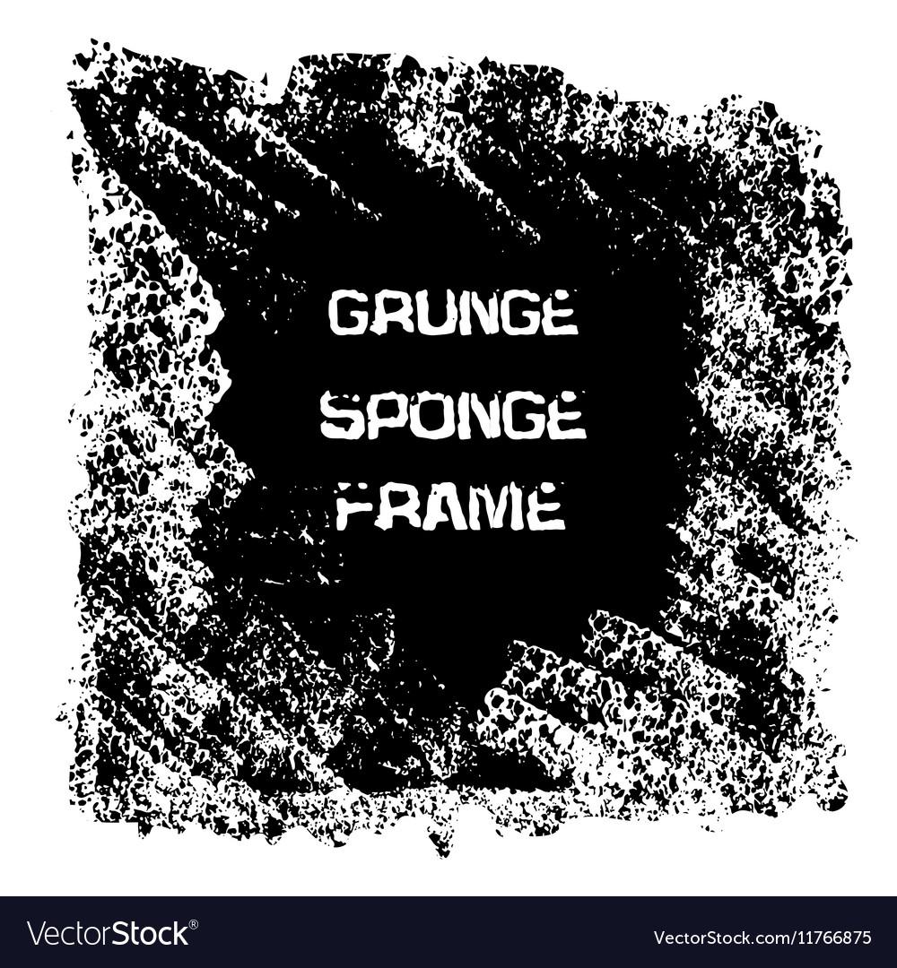 Grunge black sponge frame Textured