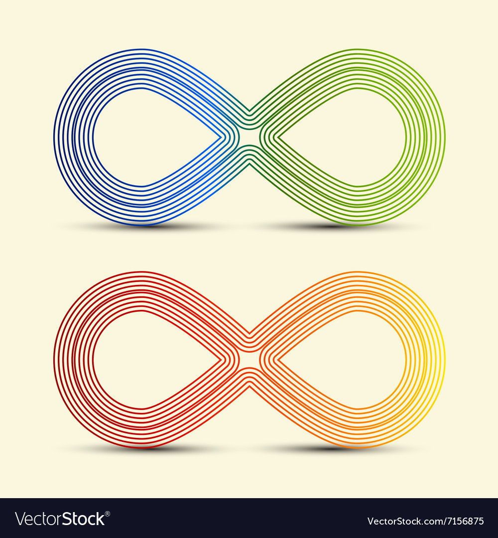 Infinity Symbol - Endless Icons Set vector image