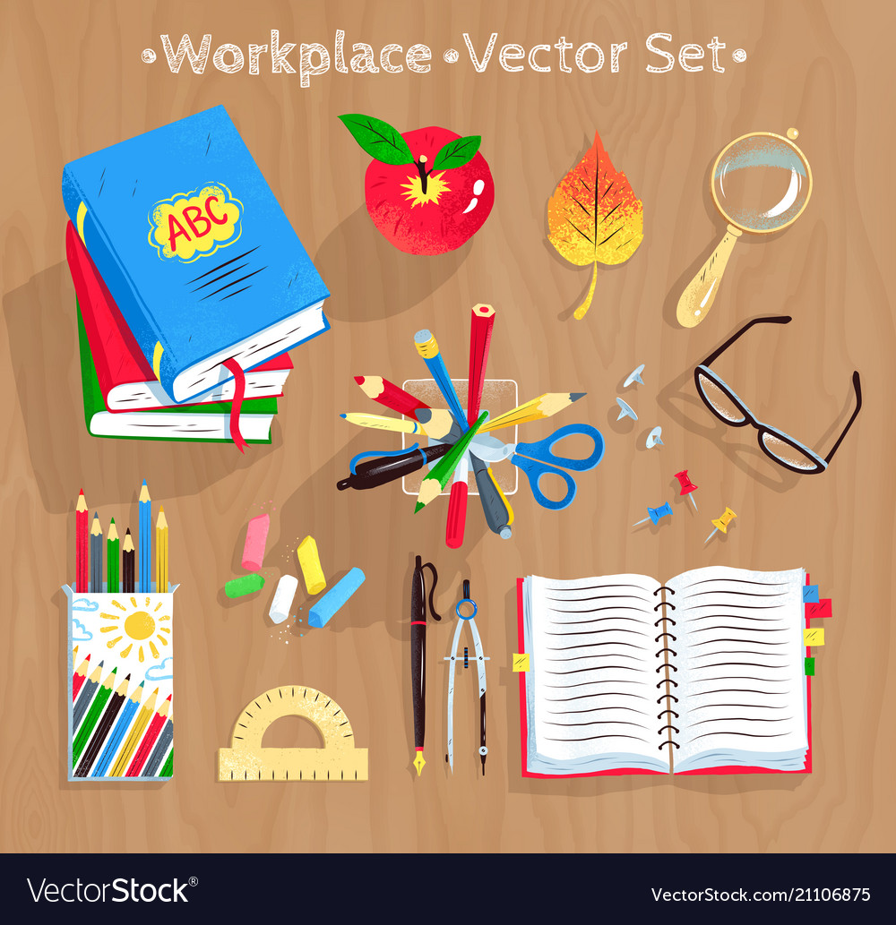 Set of education supplies