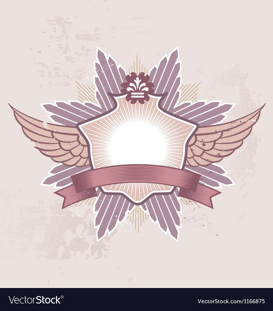 Shield badge vector image