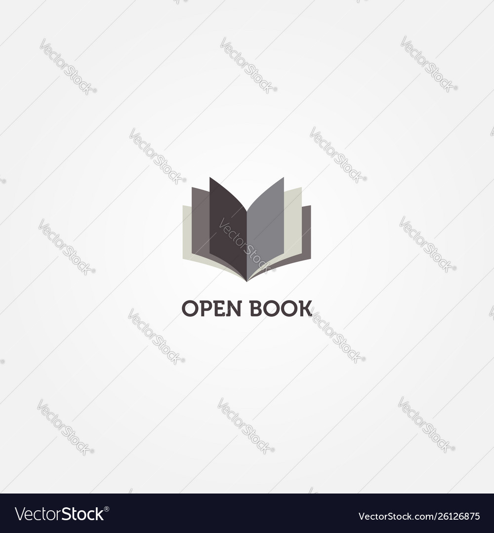 Simple clean book logo sign symbol icon