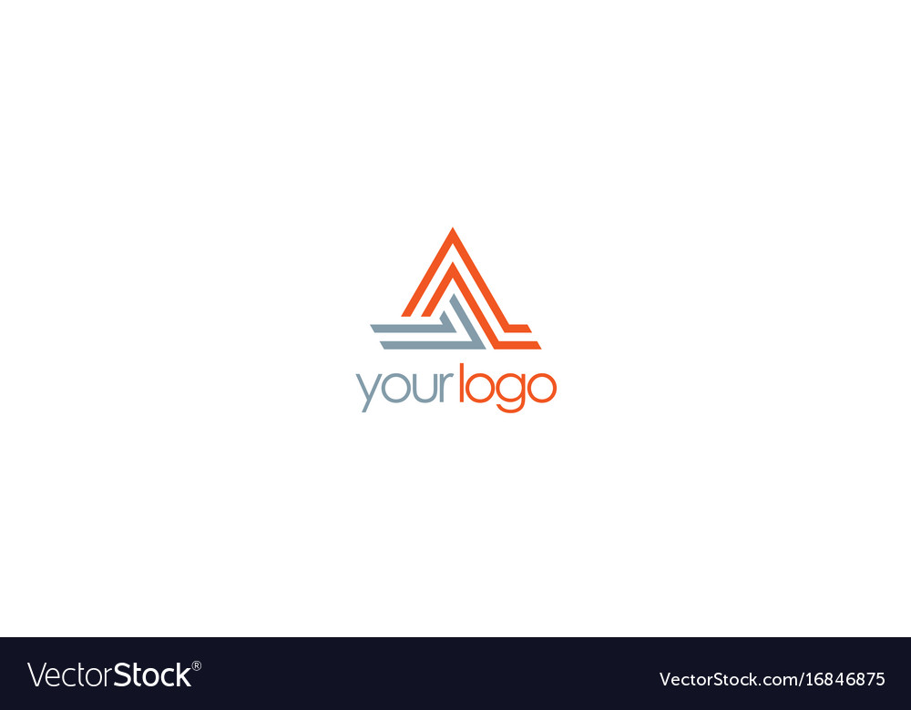 Triangle line letter a logo vector image