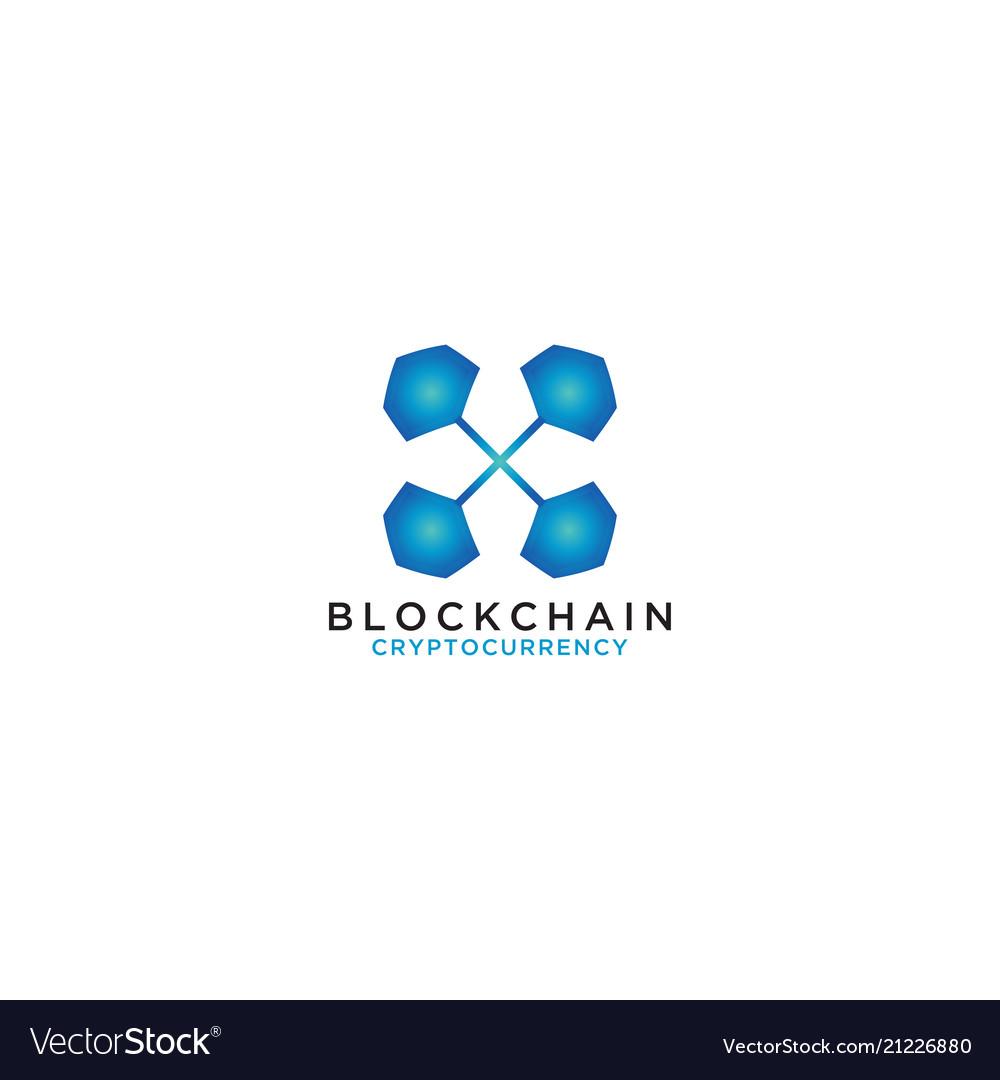 Blockchain logo design template