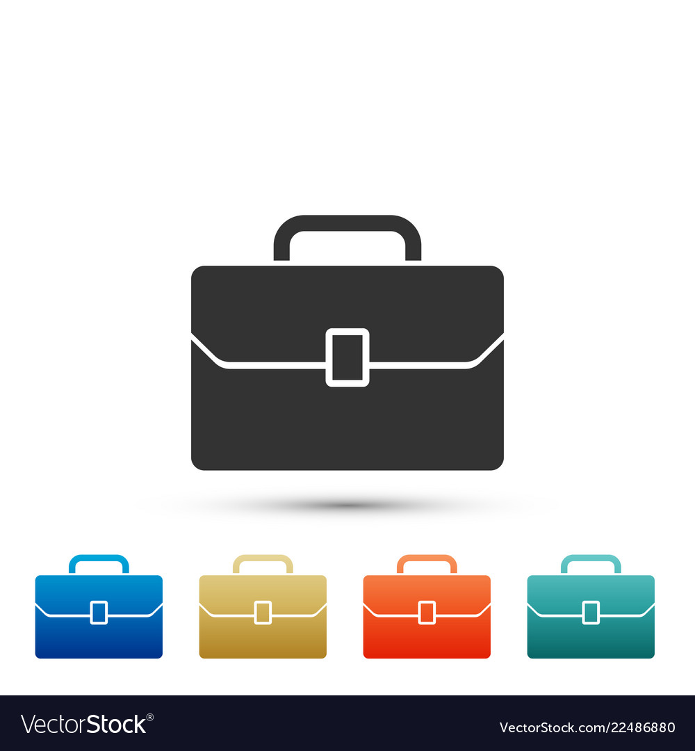 Briefcase icon isolated business case sign