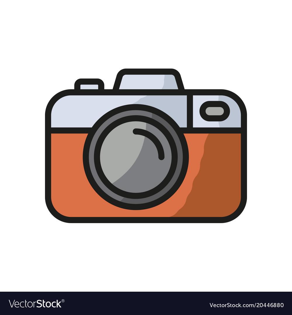 Camera icon photo line icon minimalistic