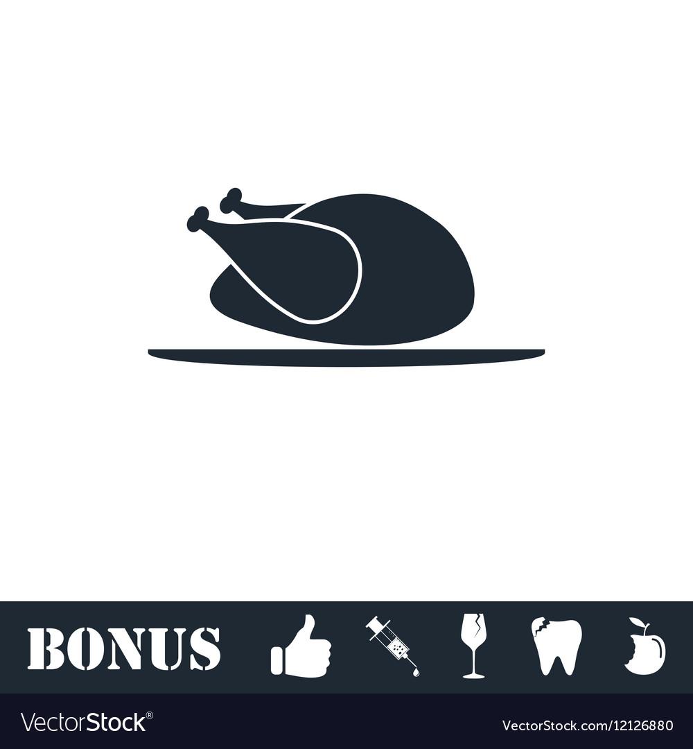 Chicken icon flat