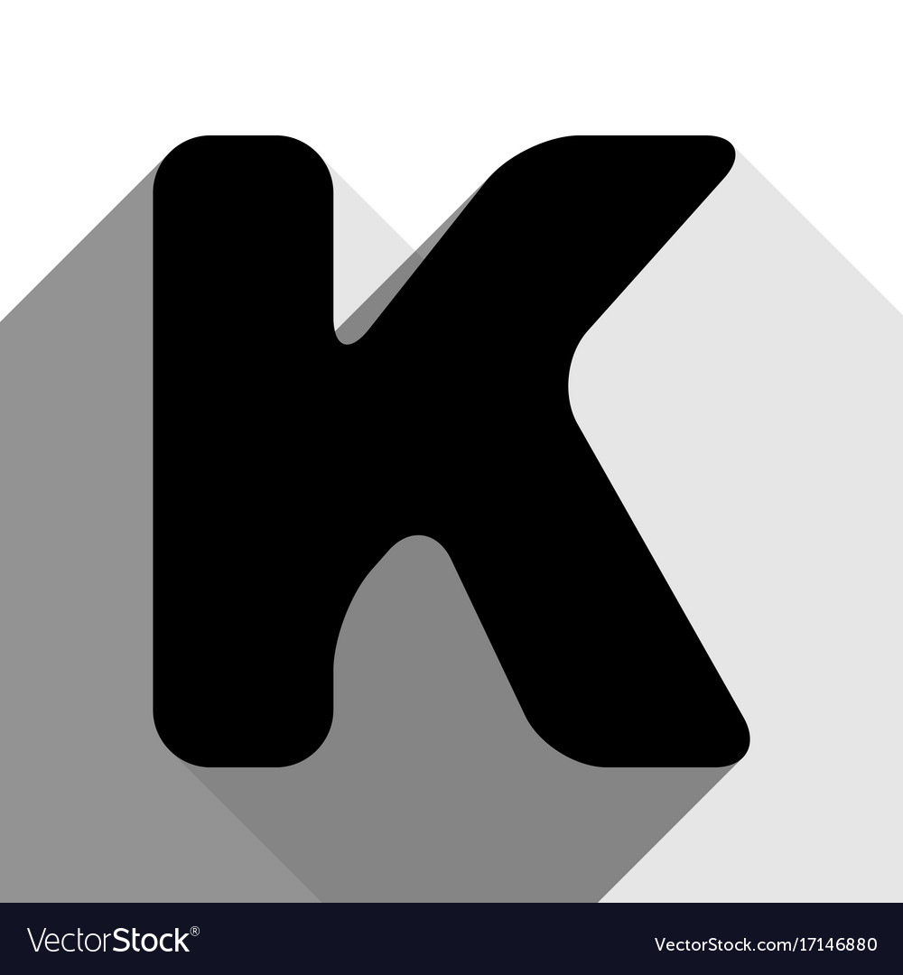 Letter K Sign Design Template Element Royalty Free Vector