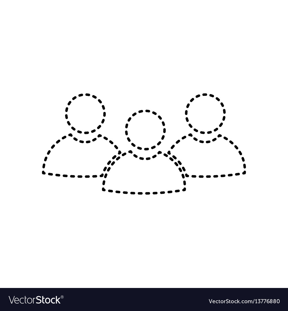 Team work sign black dashed icon on white
