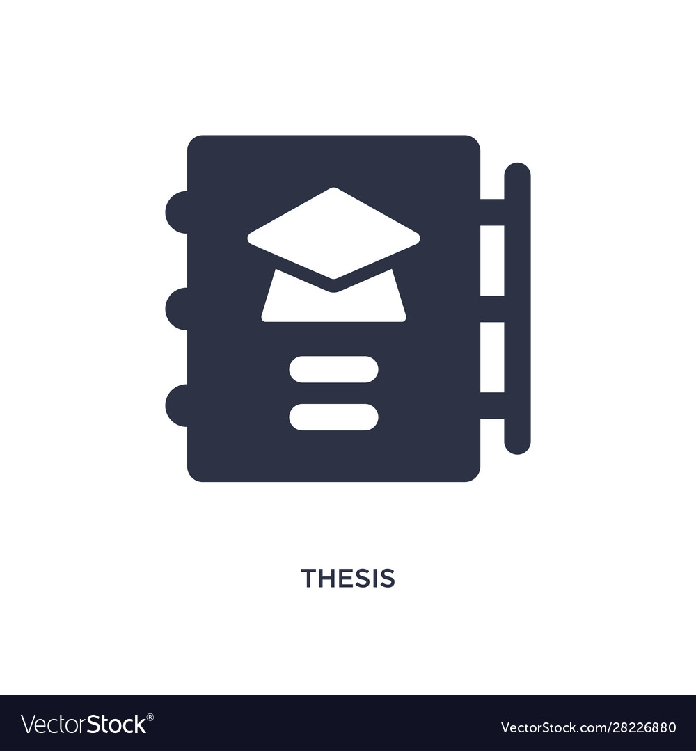 Thesis Icon On White Background Simple Element Vector Image