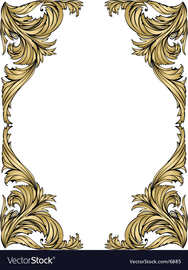 Gold frame vector image