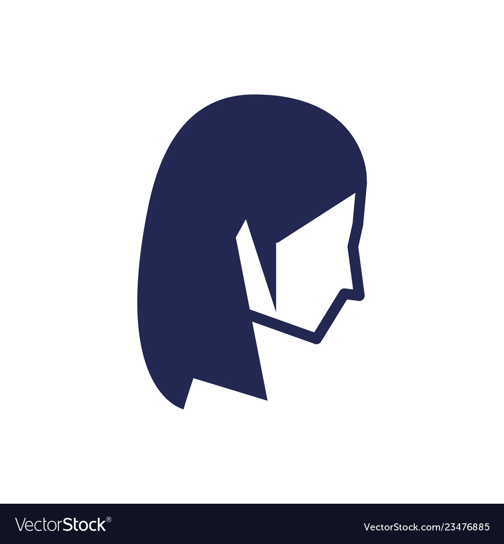 Head of young woman avatar character