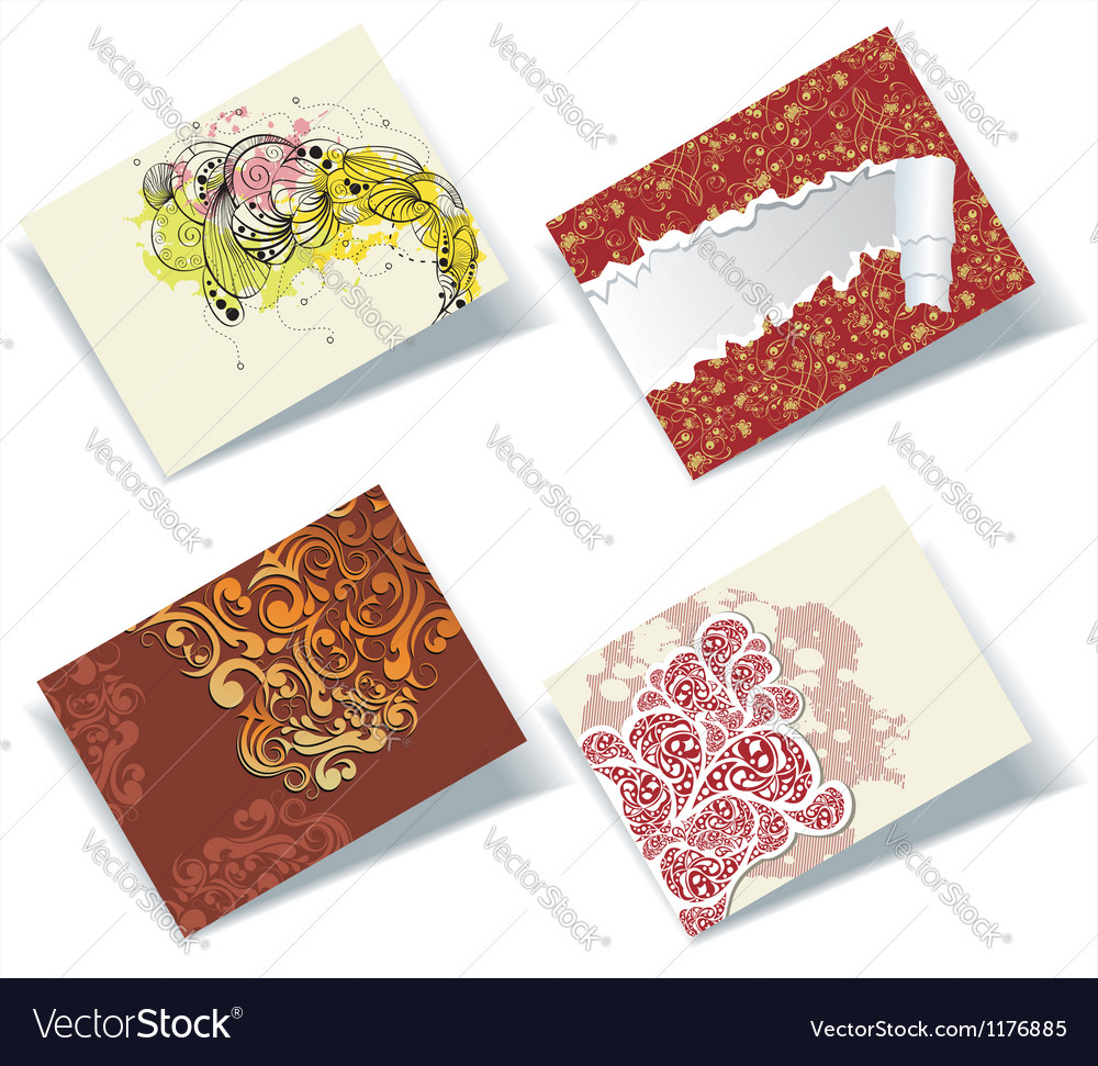 personal business cards set vector image - Personal Business Cards
