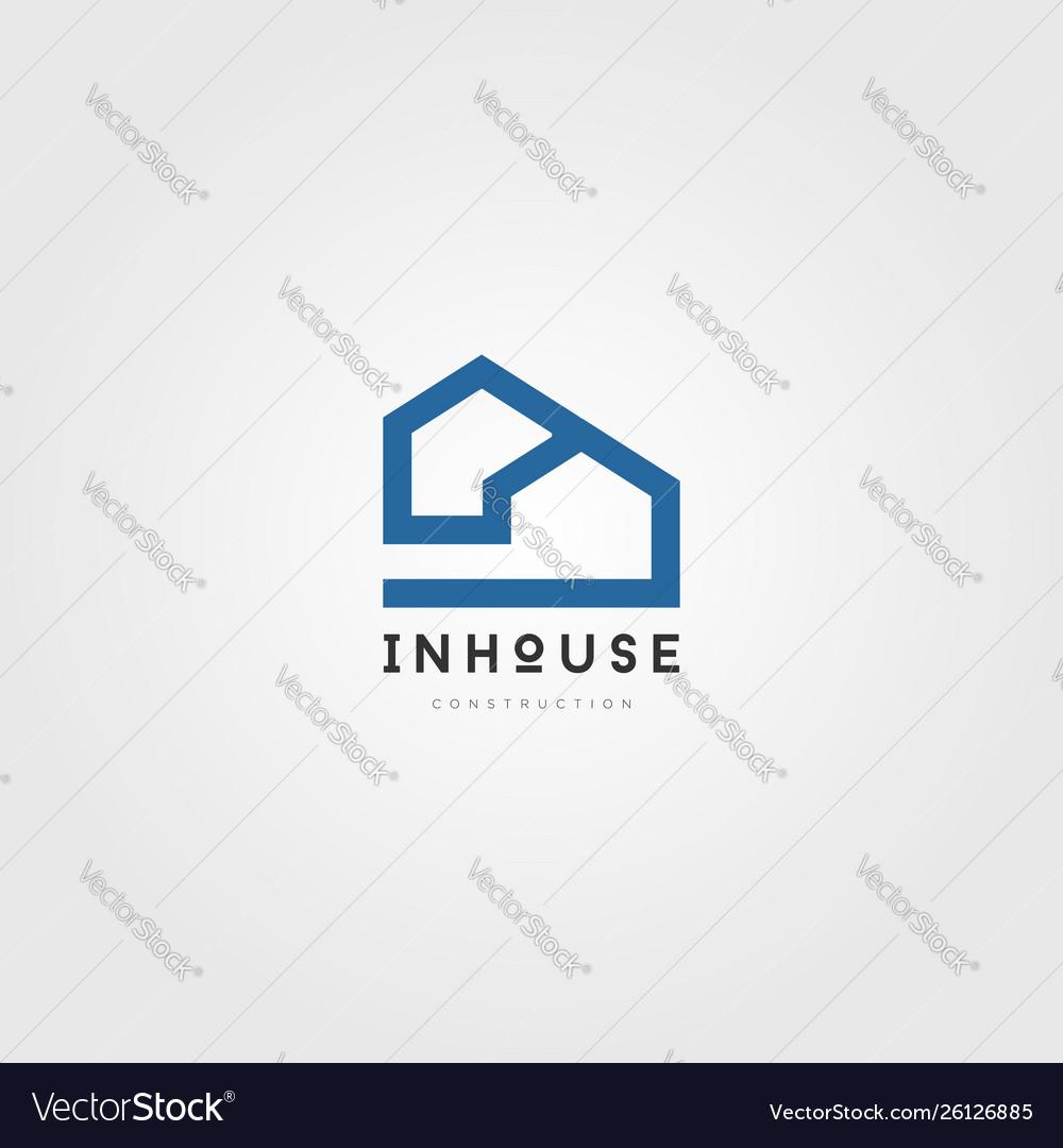 Simple house property logo sign symbol icon