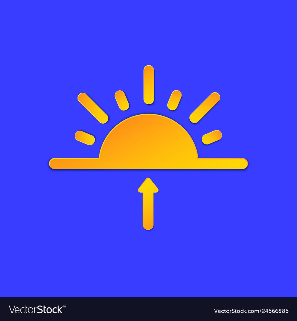 Sunrise weather forecast info icon sun and arrow