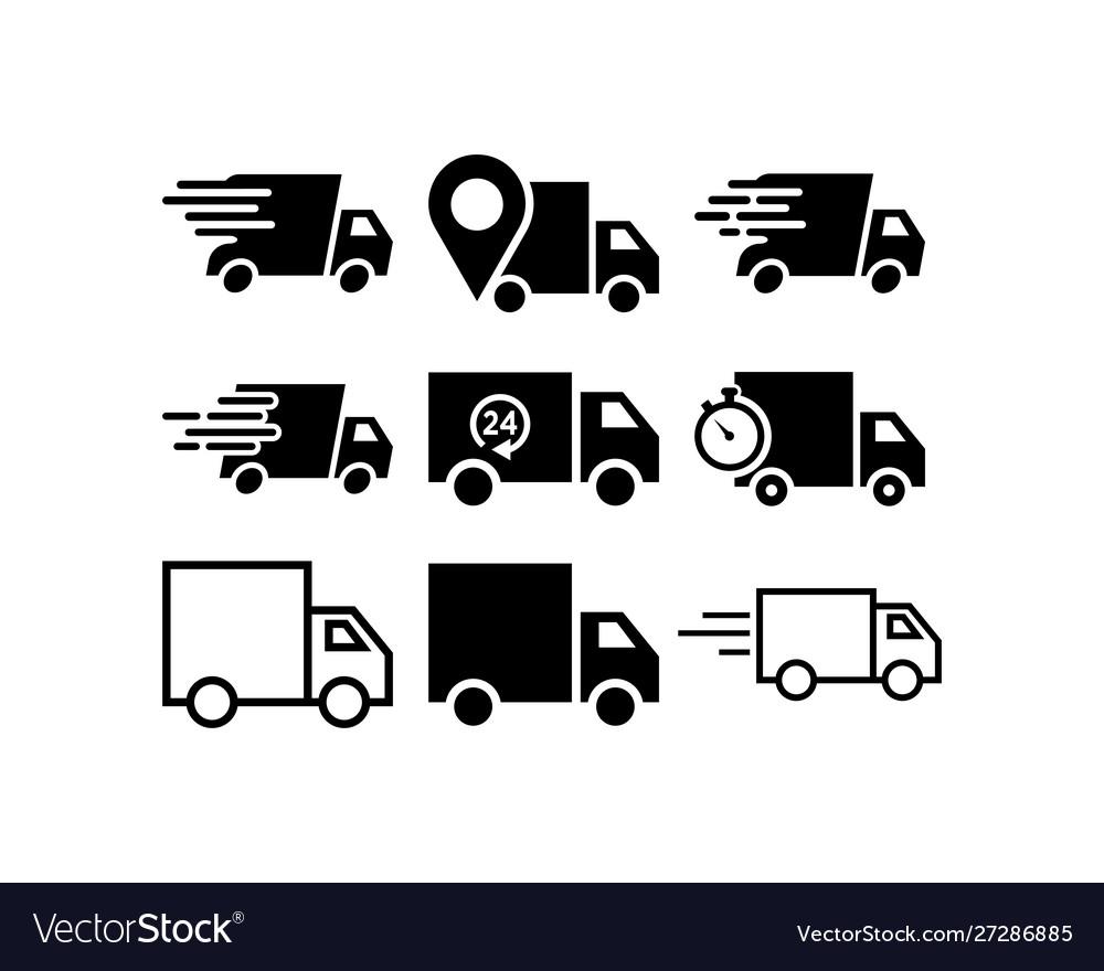 Truck icon design template graphic