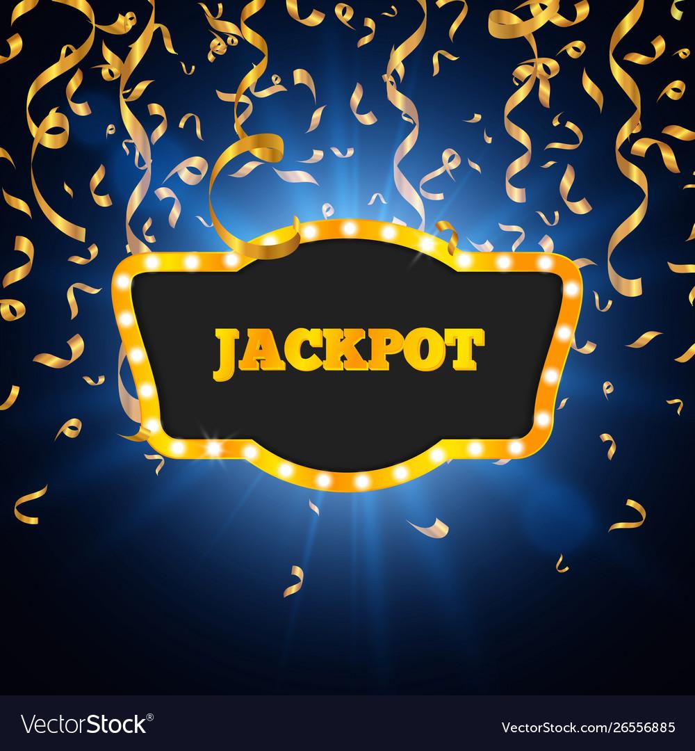 Winner background jackpot