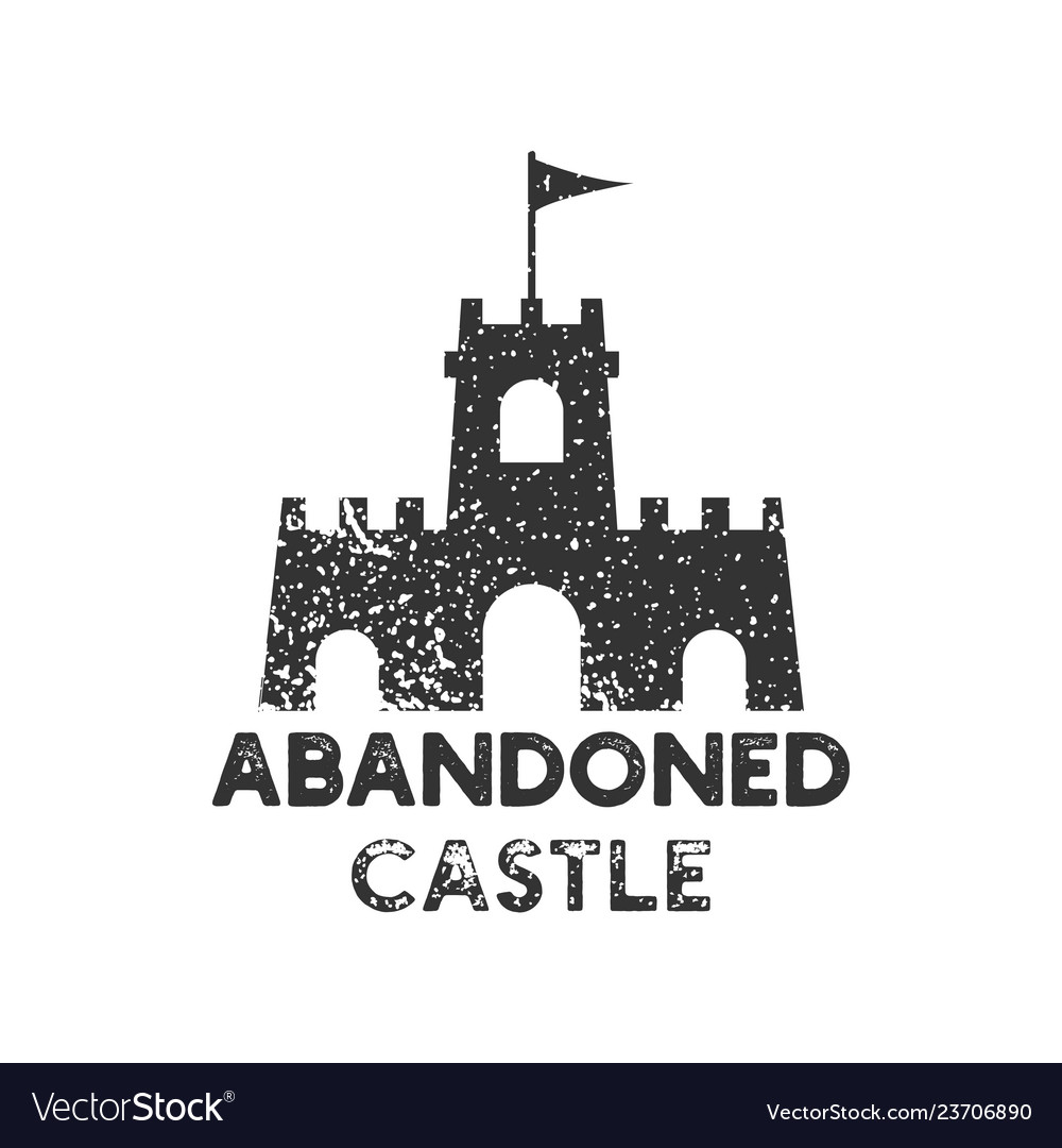 Abandoned castle logo icon design template