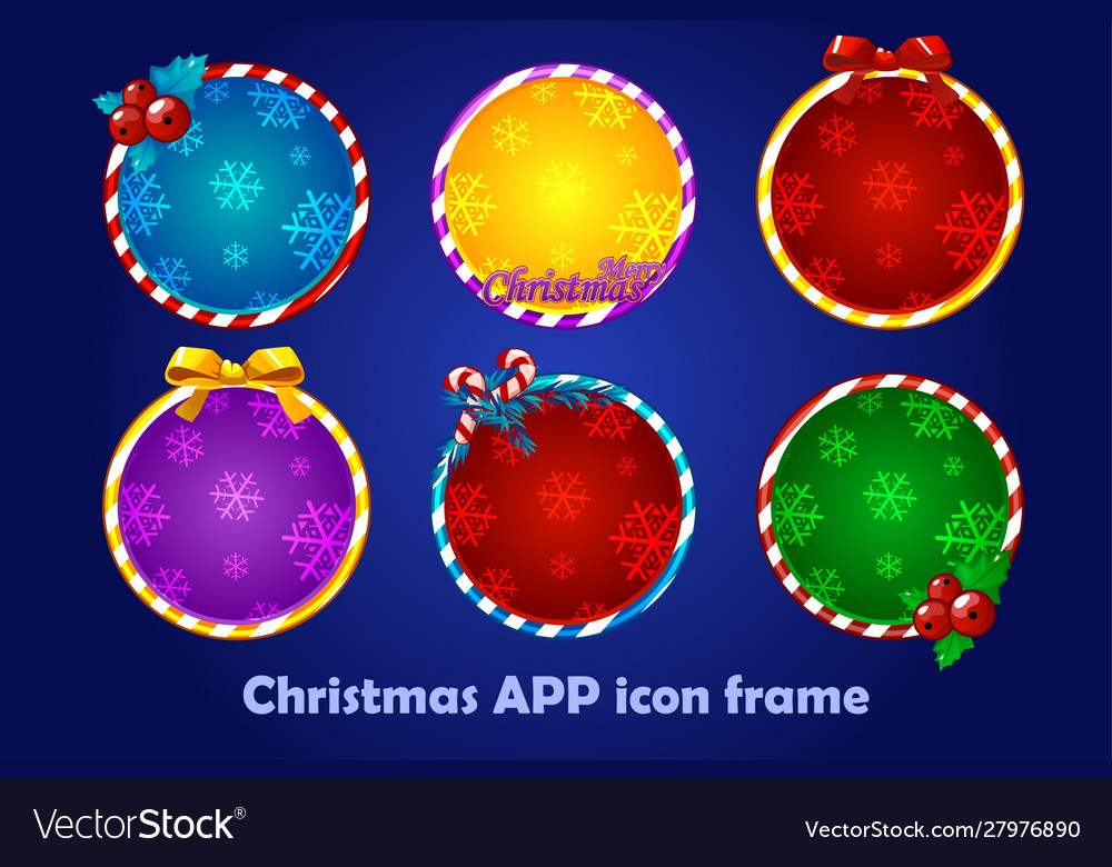 Background for app icons christmas set new