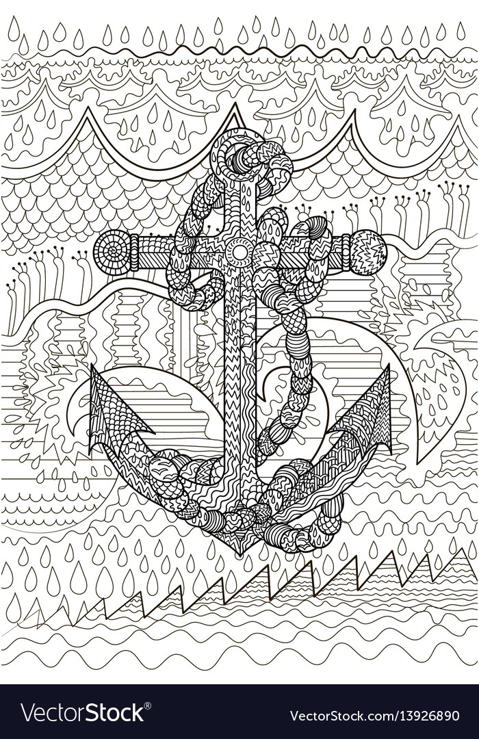 Black and white of an anchor