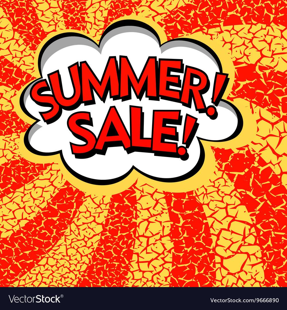 Color summer sale banner Pop art comic book