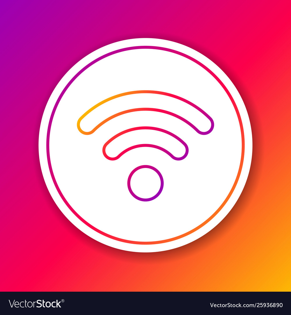 Color wi-fi wireless internet network symbol line