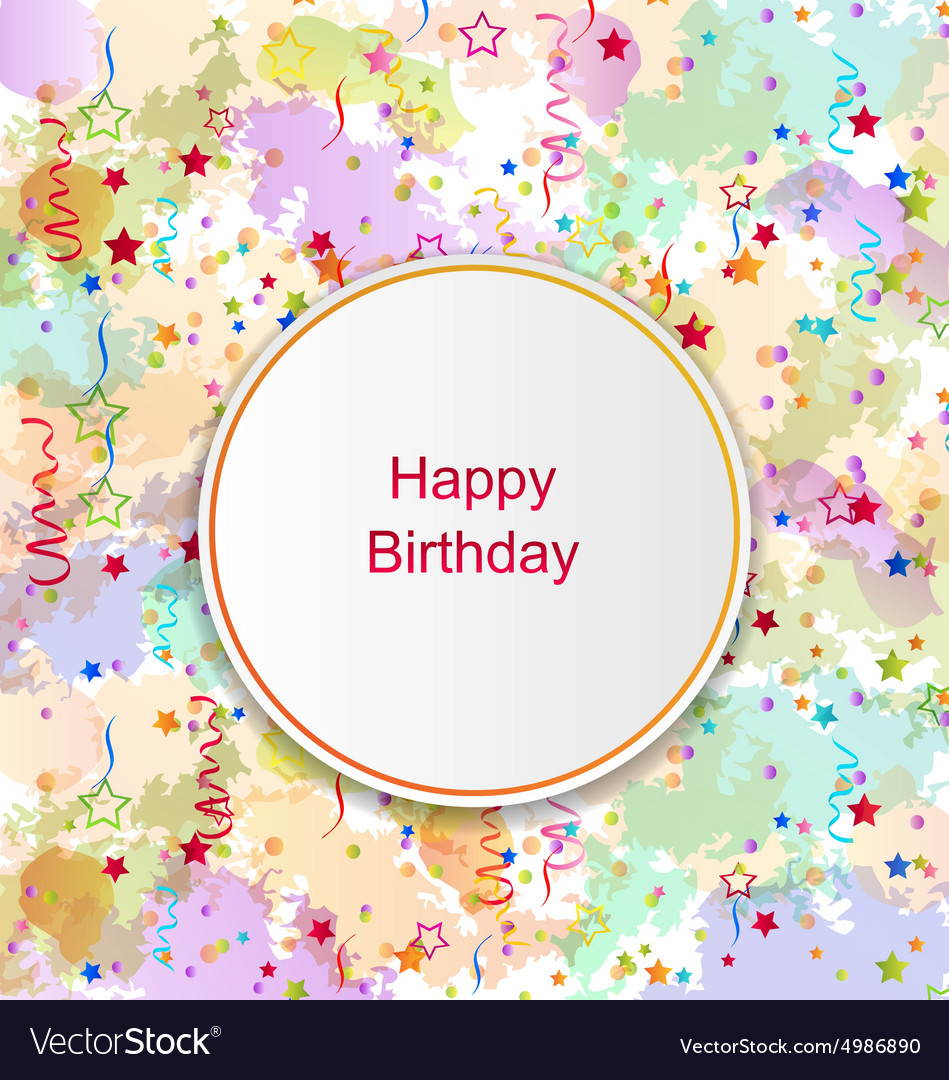 Confetti Card for Happy Birthday