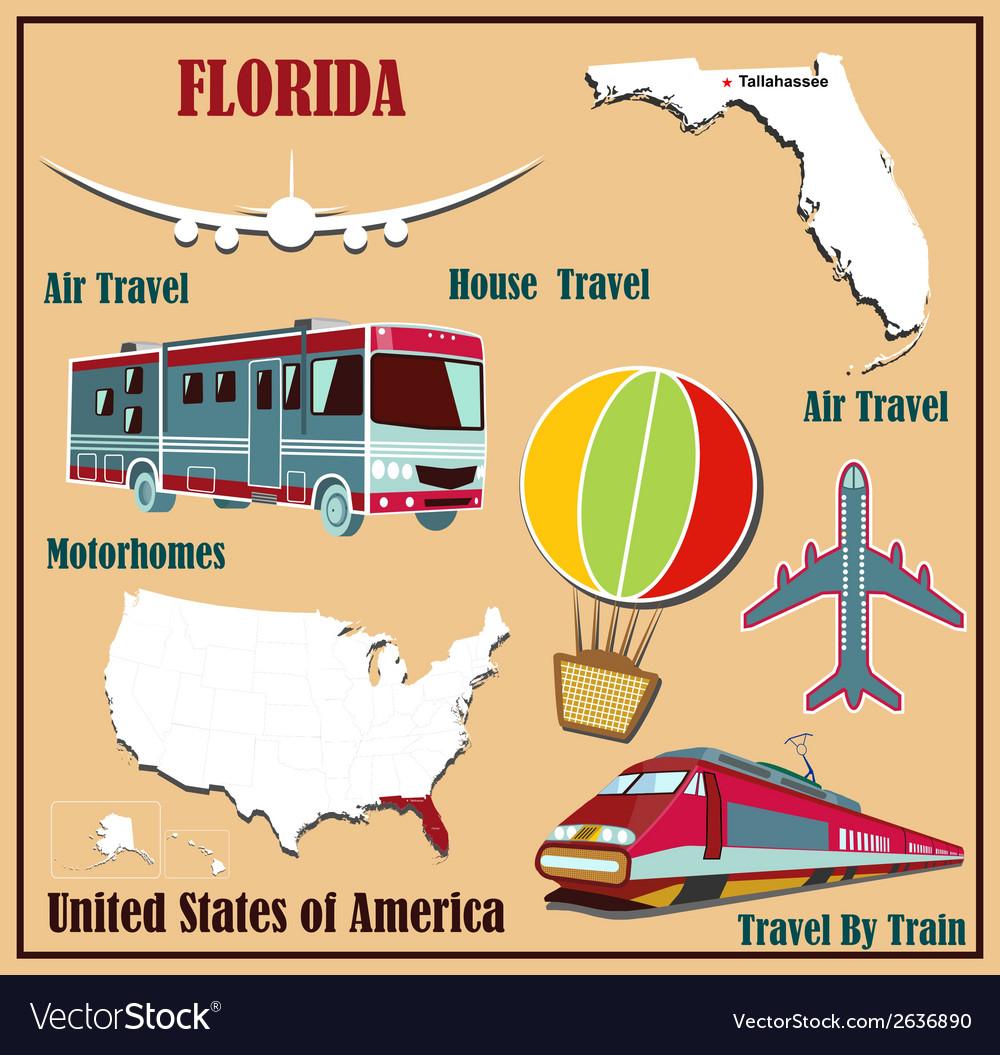 Flat map of Florida