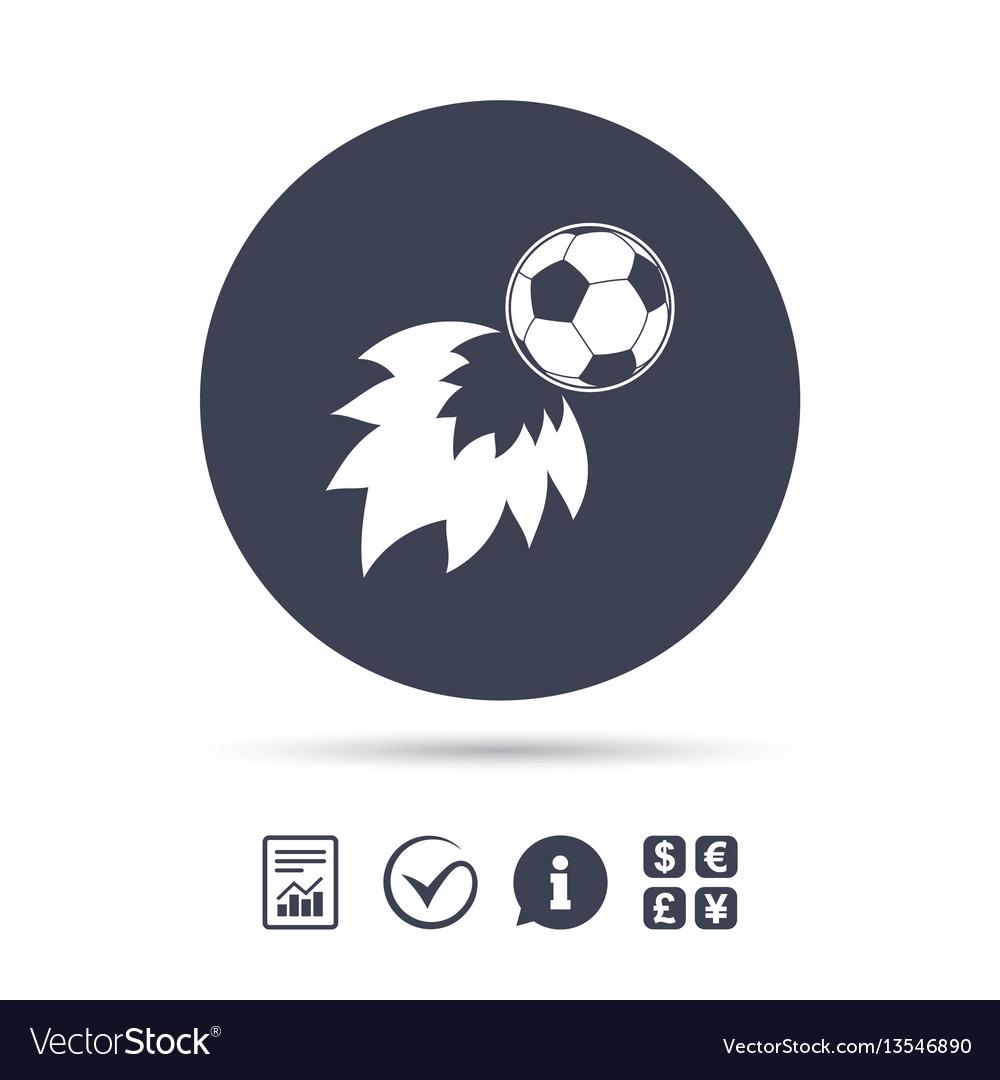 Football fireball sign icon soccer sport symbol vector image