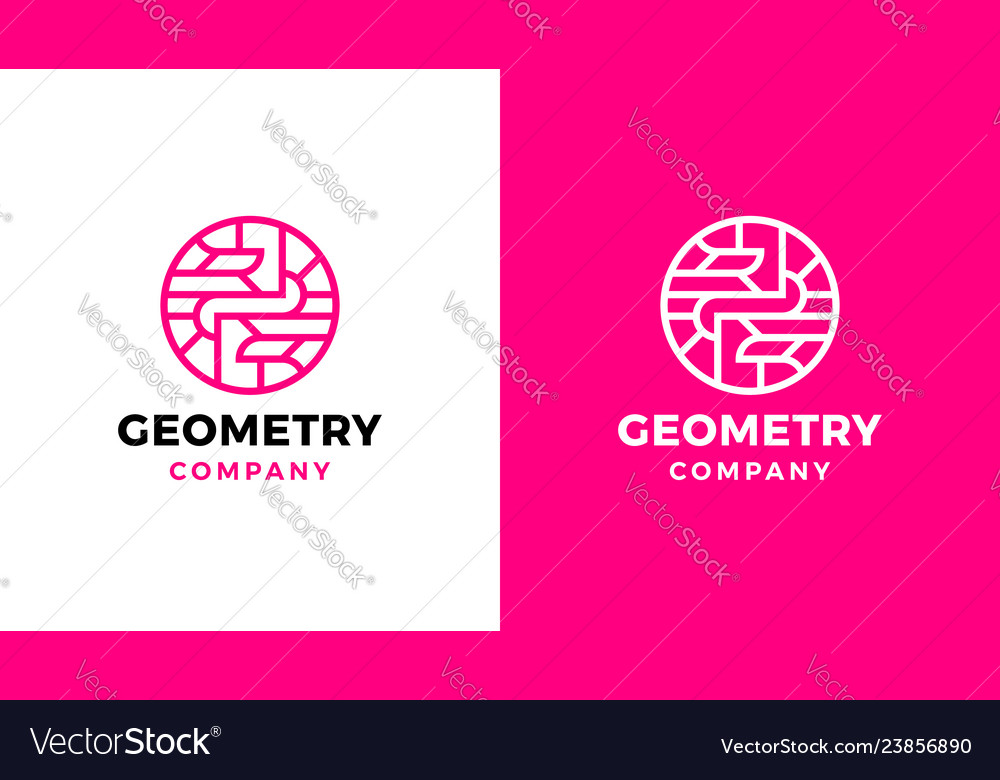 Geometric logotype template positive and negative
