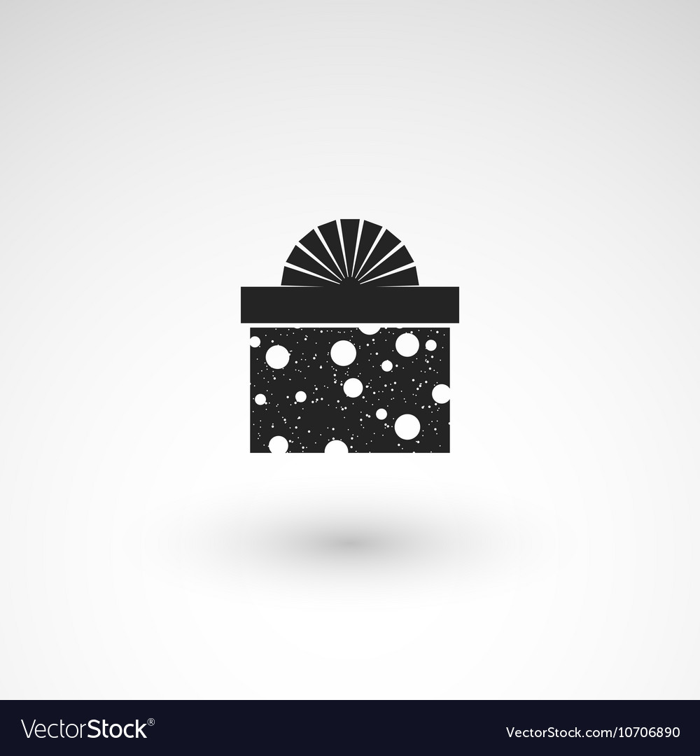 Gift box icon with ribbon wrapping pattern design
