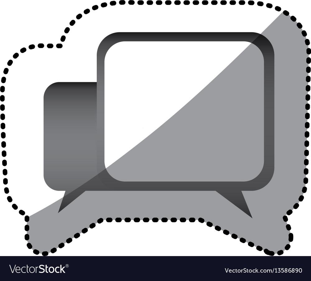 Grayscale square chat bubbles icon
