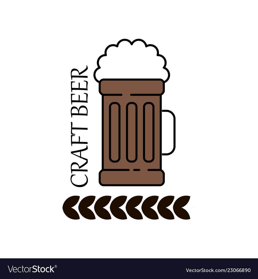 Label delicious foam beer drink premium craft