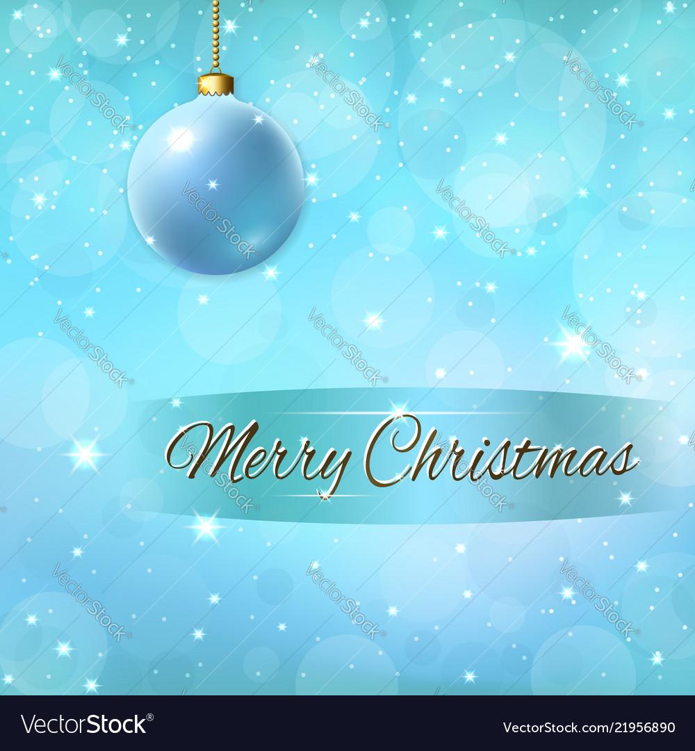 Merry christmas decoration background 3d blue