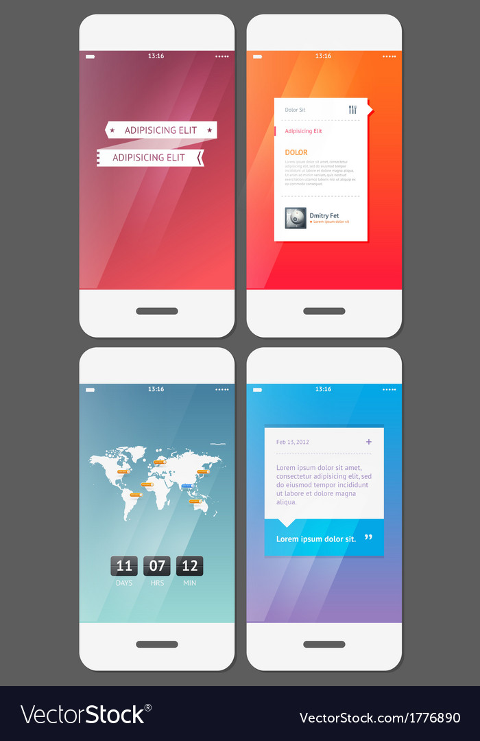 Mobile user interface template - Stock