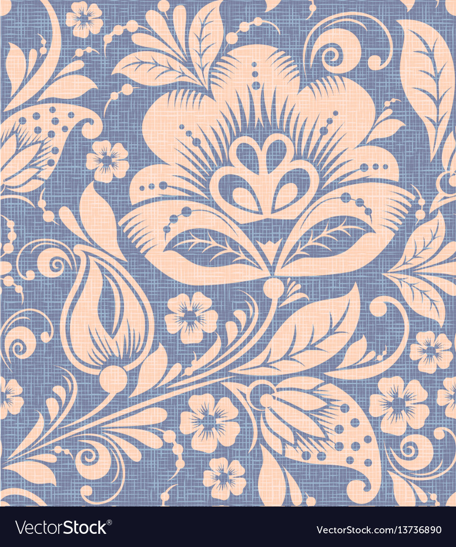 Traditional russian flower seamless pattern vector image