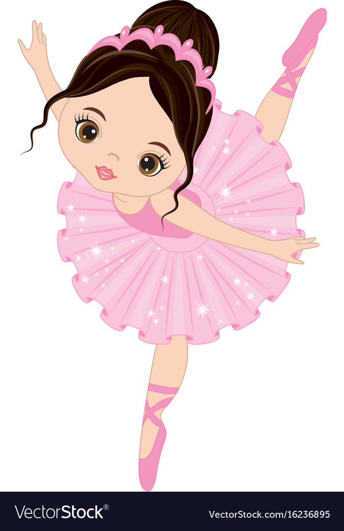 Cute Little Ballerina Dancing Royalty Free Vector Image