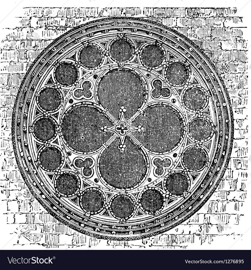 Deans eye rose window in the North Transept of