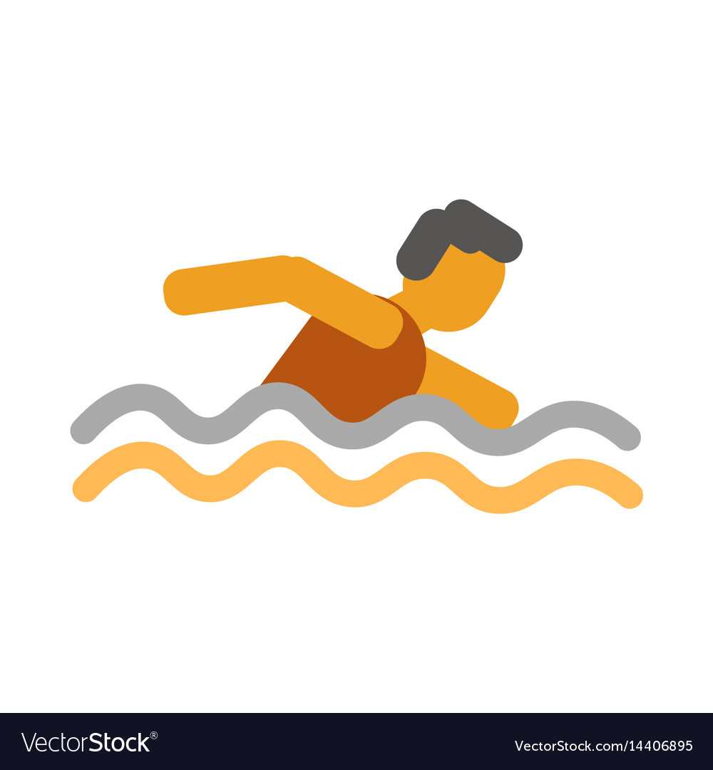 Faceless man swimming in the water vector image