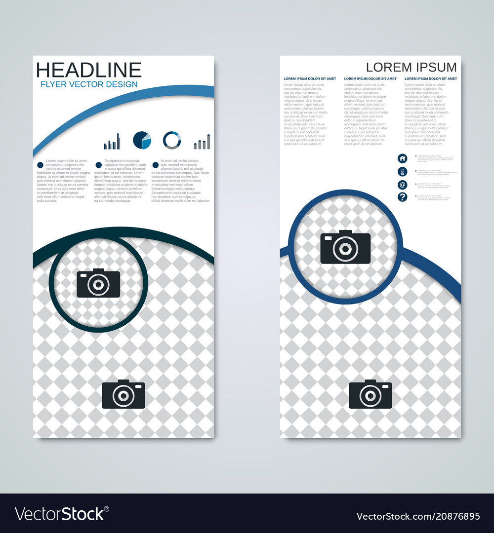 Modern roll-up banner design template vector image