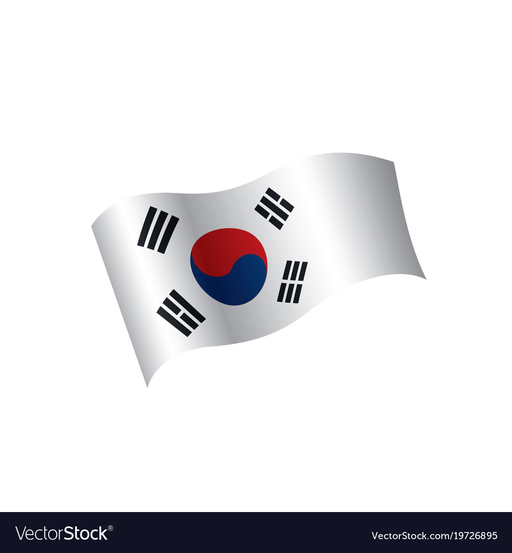 south korean flag royalty free vector image vectorstock rh vectorstock com south korea flag vector free south korea flag vector ai