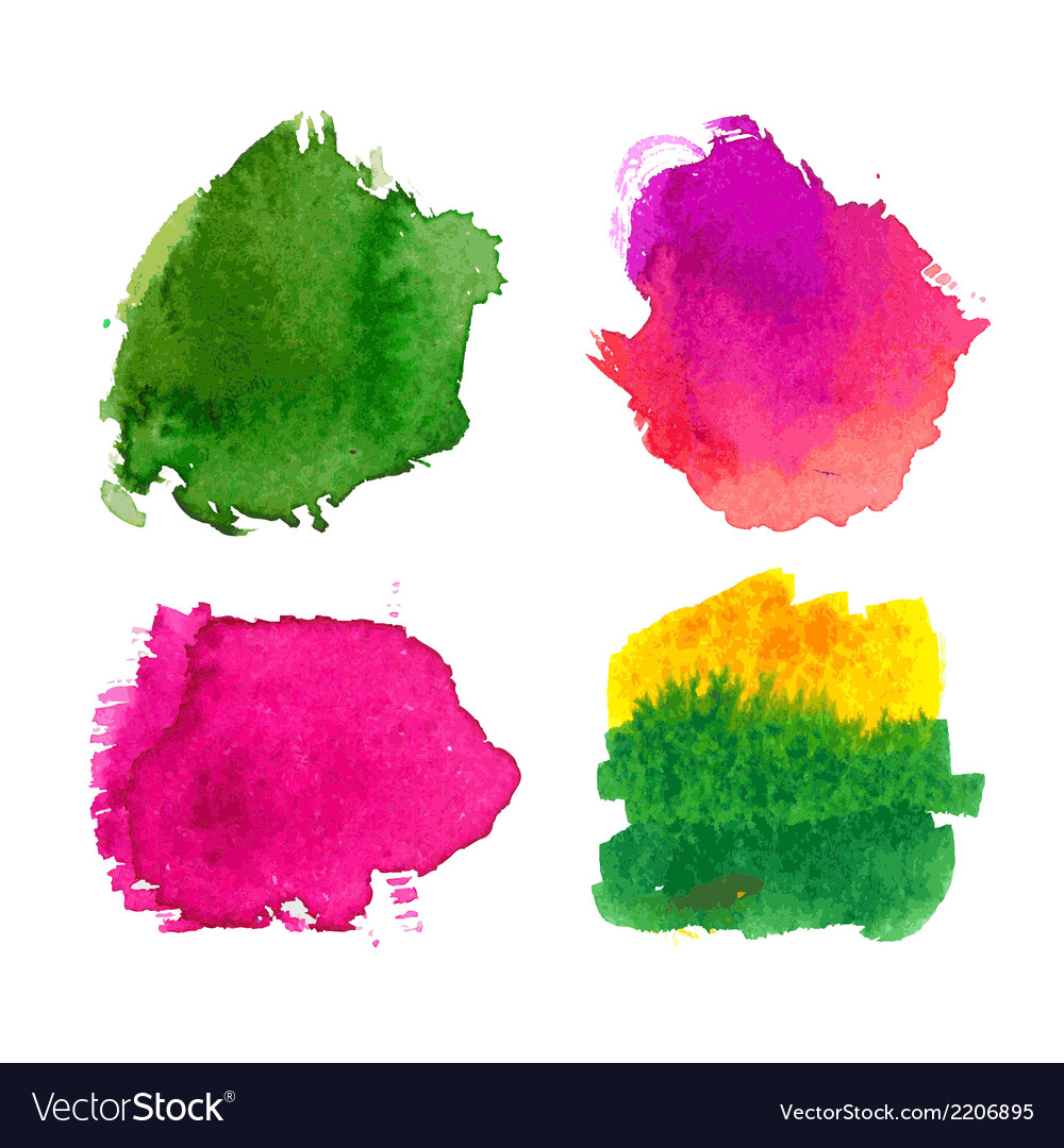 Water-colour blots vector image