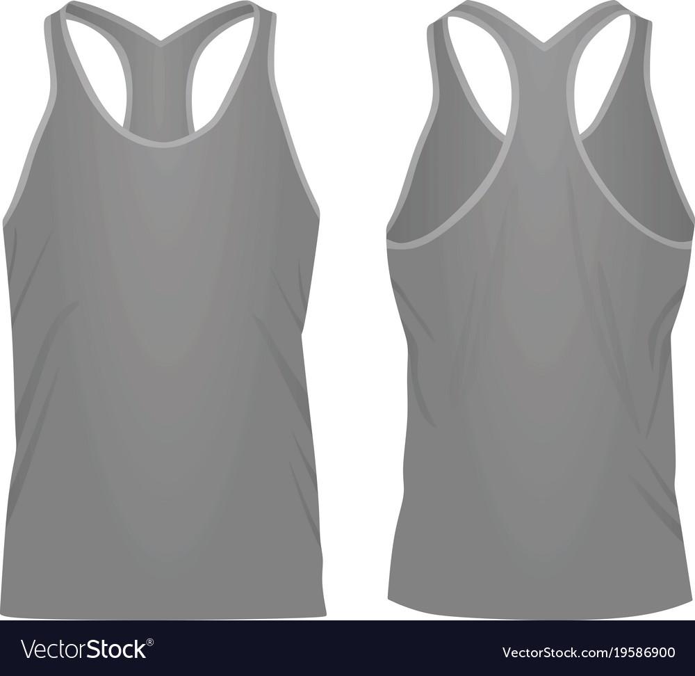 ef0deb1f21658 Grey sleeveless t shirt Royalty Free Vector Image